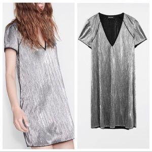 Zadig & Voltaire Russe Silver Lurex Dress
